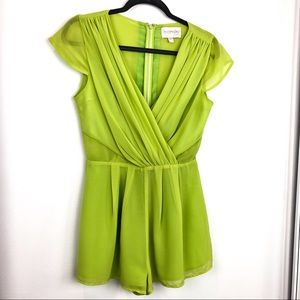 Keepsake The Label Chartreuse Romper